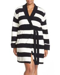 Betsey Johnson - Blue Heart Back Sweater Robe - Lyst