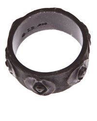 Brevard - Black Egyptian Eye Ring - Lyst