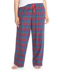 Jane & Bleecker New York | Multicolor Contrast Cuff Print Flannel Pants | Lyst