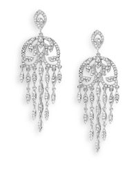 Saks Fifth Avenue - Metallic Pavé Chandelier Earrings - Lyst