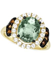 Le Vian | Green Smoky Quartz (1/6 Ct. T.w.) And White Topaz (1/2 Ct. T.w.) Ring In 14k Gold | Lyst