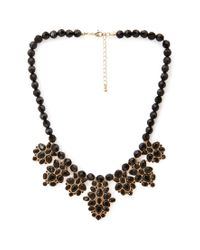 Forever 21 - Metallic Beaded Faux Gemstone Necklace - Lyst