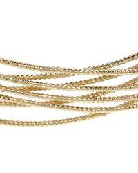 John Lewis - Metallic Fine Sparkle Cross Over Cuff Bracelet - Lyst