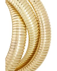 Kenneth Jay Lane | Metallic Goldplated Wrap Bracelet | Lyst