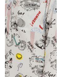 Paul & Joe - White Grafitti Print Shirt - Lyst