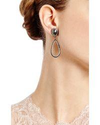 Eva Fehren | 18k Blackened White Gold and Diamond Drop Earrings | Lyst