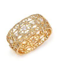 Adriana Orsini - Metallic Kaleidoscope Pavé Wide Bangle Bracelet - Lyst