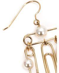 Vivienne Westwood - Metallic 'Jordan' Safety Pin Earrings - Lyst