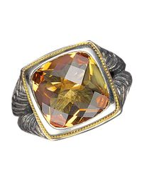 Lord & Taylor | Multicolor Balissima Sterling Silver And 18 Kt. Yellow Gold Citrine Ring | Lyst