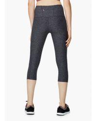Mango - Gray Fitness & Running - Slimming Effect Capri Leggings - Lyst