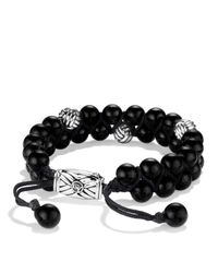 David Yurman - Metallic Spiritual Beads Two-row Bracelet With Black Onyx - Lyst