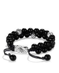 David Yurman | Metallic Spiritual Beads Two-row Bracelet With Black Onyx | Lyst