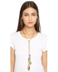 Lizzie Fortunato | Metallic Argon Lariat Necklace - Gold Multi | Lyst