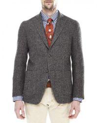 Jules B - Brown Herringbone Jacket for Men - Lyst
