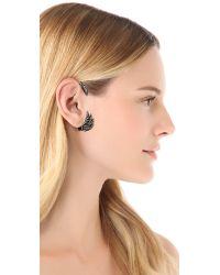 Pamela Love - Black Feather Ear Cuff Antique Silveronyx - Lyst