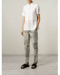Forte Forte - Gray Patchwork Print Trousers - Lyst