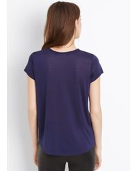 Vince - Blue Pocket Tee With Roll Neck Detail - Lyst