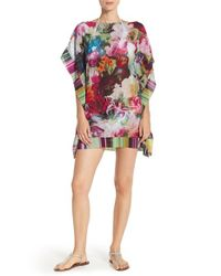 Ted Baker | Purple 'imalita' Floral Print Cover-up Tunic | Lyst