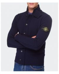 Stone Island - Blue Button Through Cardigan for Men - Lyst