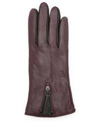SOIA & KYO | Purple Brienne Gloves - Merlot | Lyst