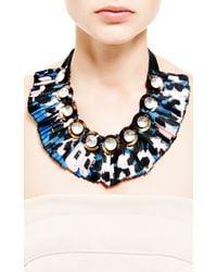 Marni | Blue Embellished Silktwill Necklace | Lyst