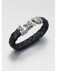 King Baby Studio | Black Leather Bracelet for Men | Lyst
