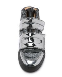 MM6 by Maison Martin Margiela | High Top Velcro Sneakers - Black/grey/black | Lyst