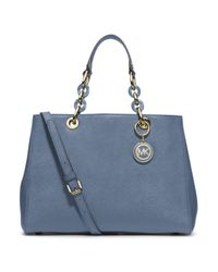 MICHAEL Michael Kors | Blue Medium Satchel | Lyst