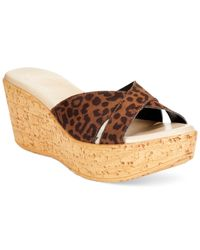Callisto | Brown Chrissi Platform Wedge Sandals | Lyst