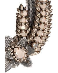 Shourouk   Metallic Aigrette Comet Gold-tone, Crystal And Sequin Necklace   Lyst