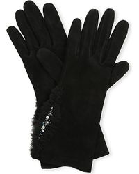 Causse Gantier - Black Vincenza Nubuck Gloves - Lyst
