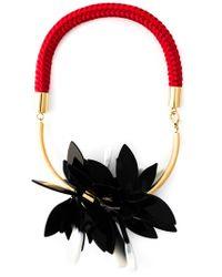 Marni - Multicolor Floral Necklace - Lyst