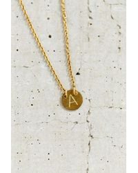 Urban Outfitters | Metallic Layering Initial Charm Necklace | Lyst