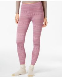 32 Degrees | Purple Knit Printed Baselayer Leggings | Lyst
