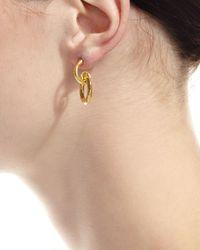 Gurhan - Metallic Galahad 24k Hoop Drop Earrings - Lyst
