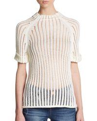 Sam Edelman | White Novelty Stitch Sweater | Lyst