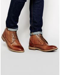 Frank Wright - Brown Acton Leather Boots for Men - Lyst
