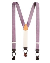 Brooks Brothers - Purple Chambray Suspenders for Men - Lyst