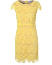True Decadence | Yellow Scallop Lace Dress | Lyst