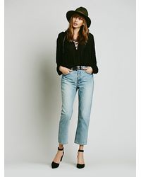 Free People | Blue Uptown Slim Straight Jeans | Lyst