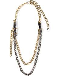 Lanvin   Metallic Long 'taliska' Necklace   Lyst