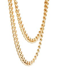 ASOS - Metallic Over The Button Chain for Men - Lyst