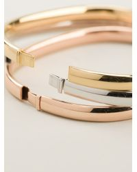 Vj By Vanni Pesciallo | Metallic Set Of Three Bangles | Lyst