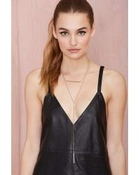 Nasty Gal - Metallic Bruna Necklace - Lyst