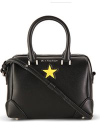 2a15fbdaf362 Givenchy Lucrezia Micro Leather Satchel in Black - Lyst