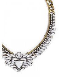 BaubleBar | White Crystal Trillion Collar | Lyst