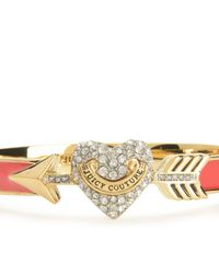 Juicy Couture | Red Pave Heart & Arrow Enamel Bangle | Lyst