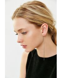 Urban Outfitters | Metallic Chain Fringe Drop Earring | Lyst