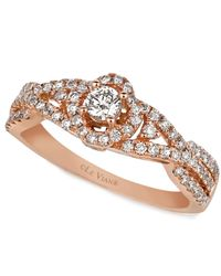 Le Vian | Pink Diamond Diamond Ring (5/8 Ct. T.w.) In 14k Rose Gold | Lyst