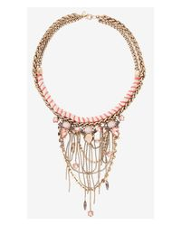 Express | Metallic Thread Wrapped Rope Chain And Bead Necklace | Lyst